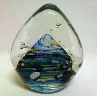Blue Salsa Paperweight by Martin Andrews. SOLD